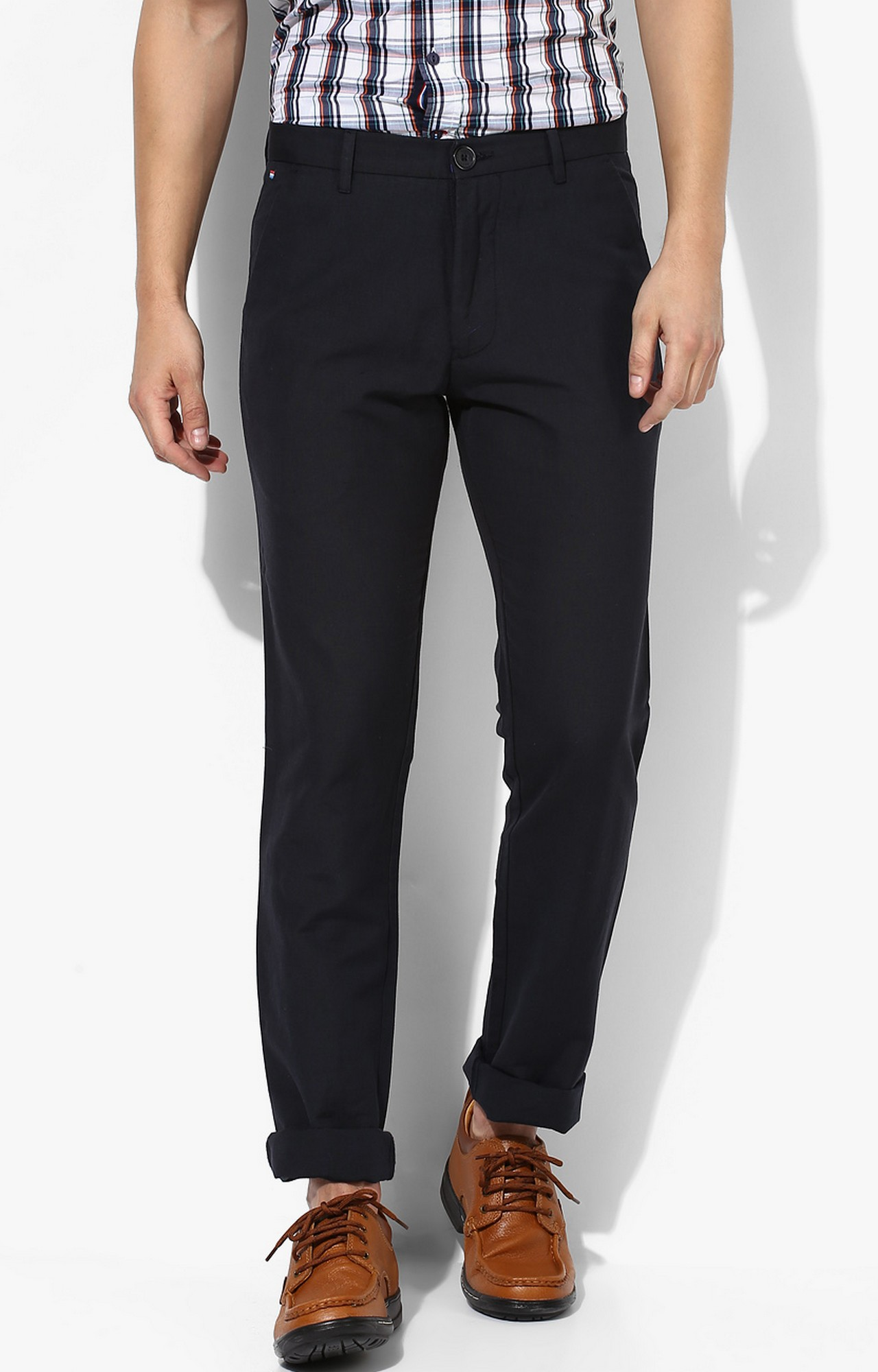 RED CHIEF | Matte Black Solid Straight Chinos