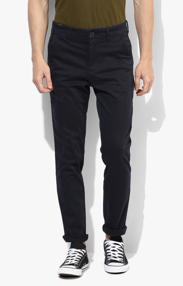 RED CHIEF | Navy Solid Straight Chinos