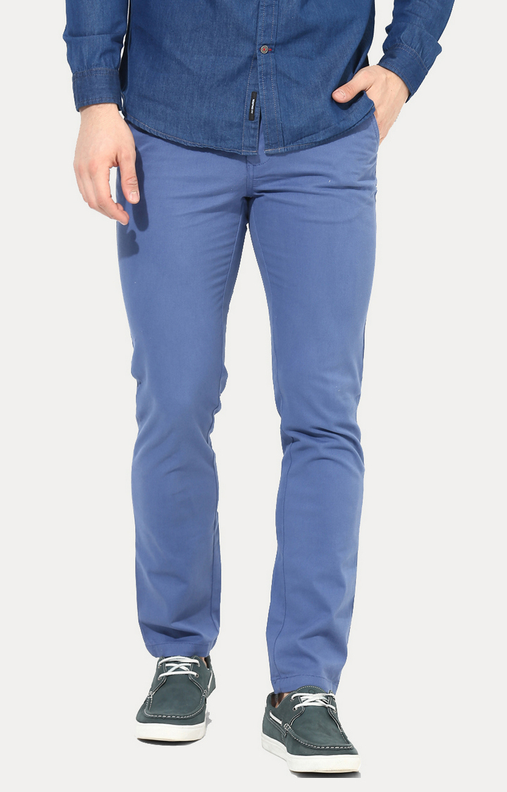 RED CHIEF | Blue Straight Solid Chinos