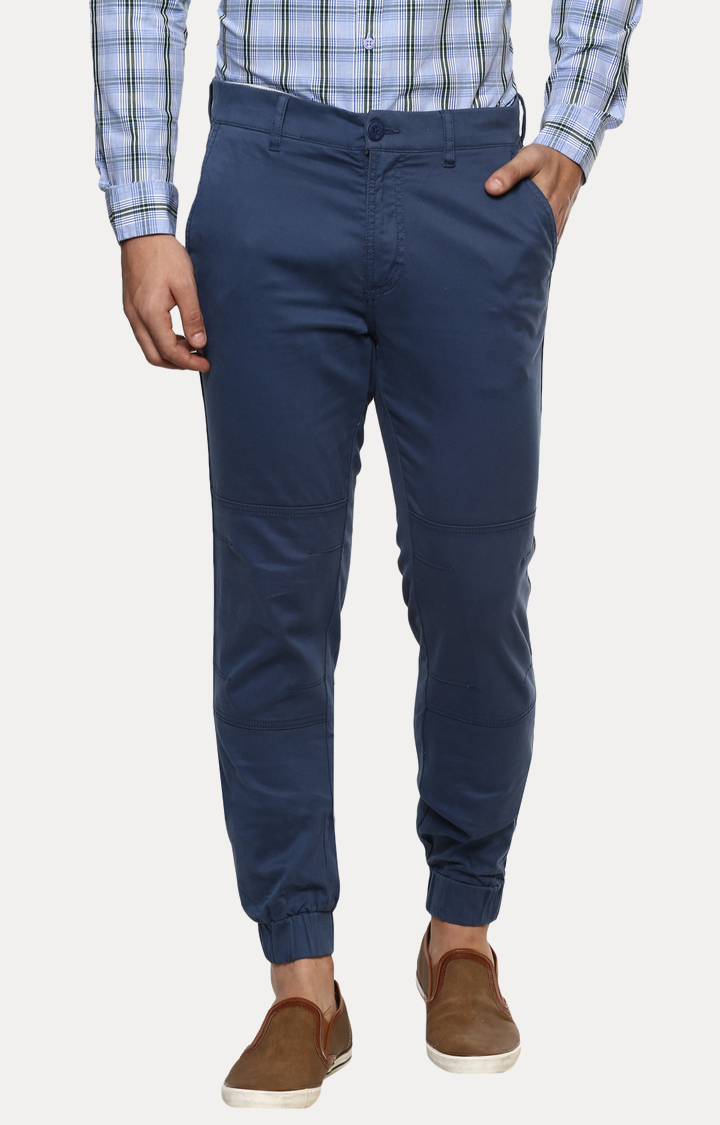 Blue Tapered Chinos