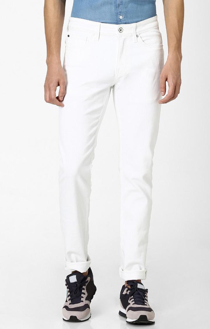 celio   White Solid Slim Fit Jeans