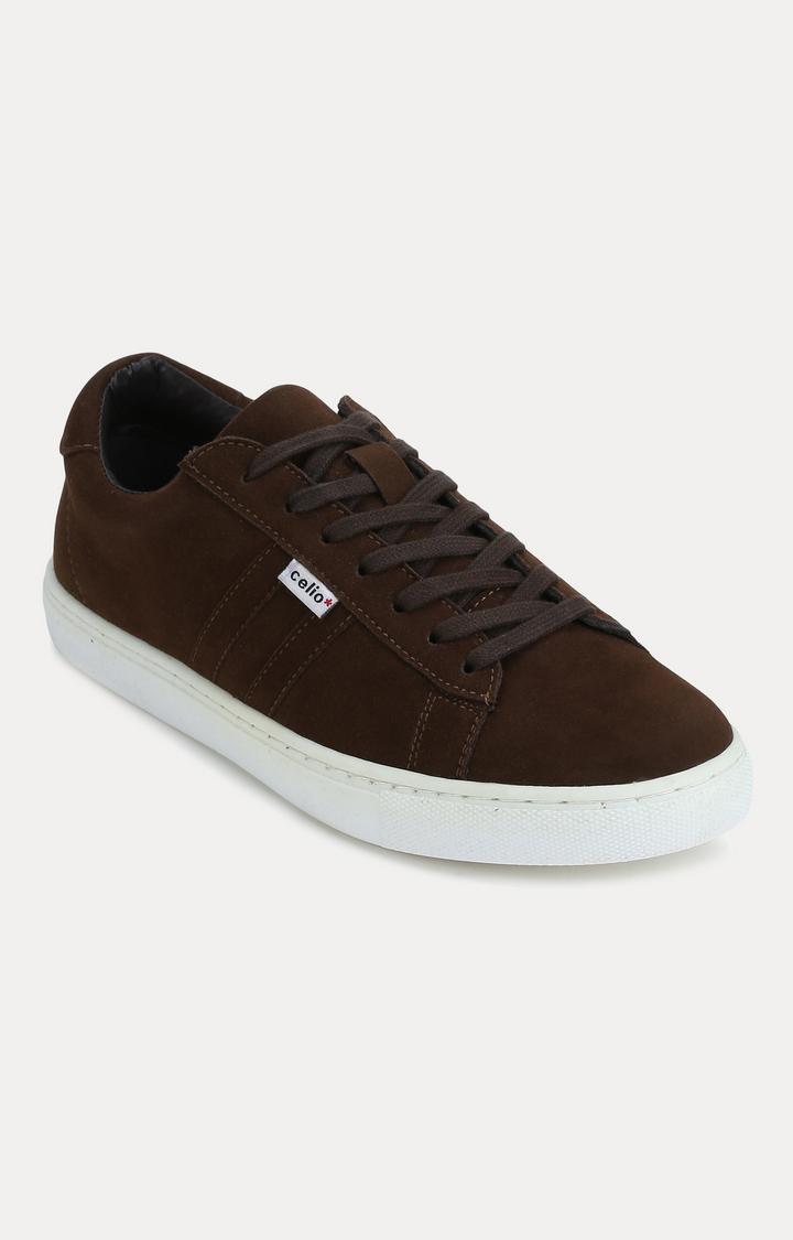 celio   Brown Sneakers
