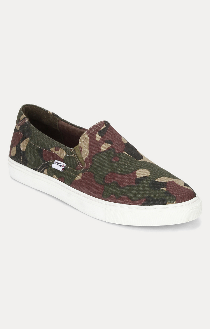 celio | Brown and Green Sneakers