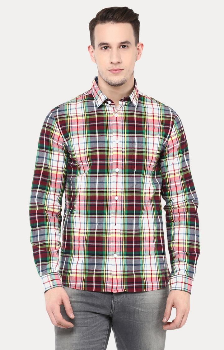 celio | Multicoloured Checked Casual Shirt