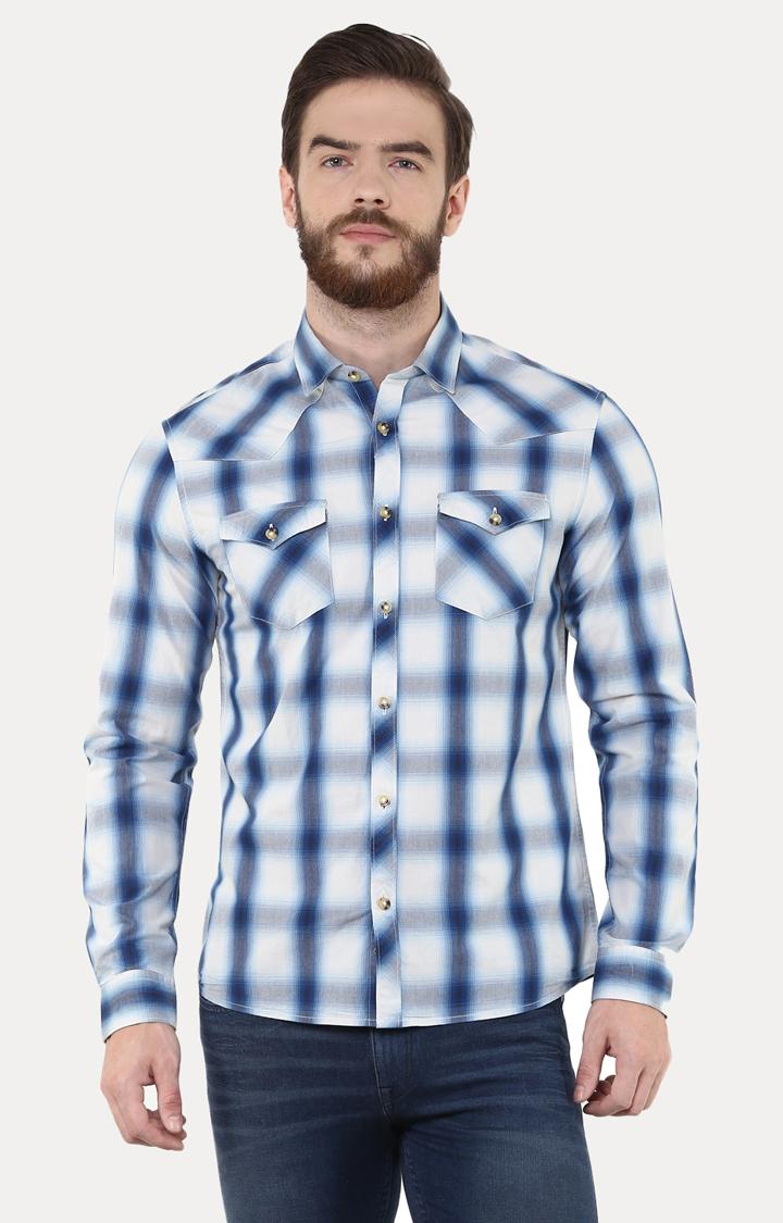 celio | Blue Checked Casual Shirt