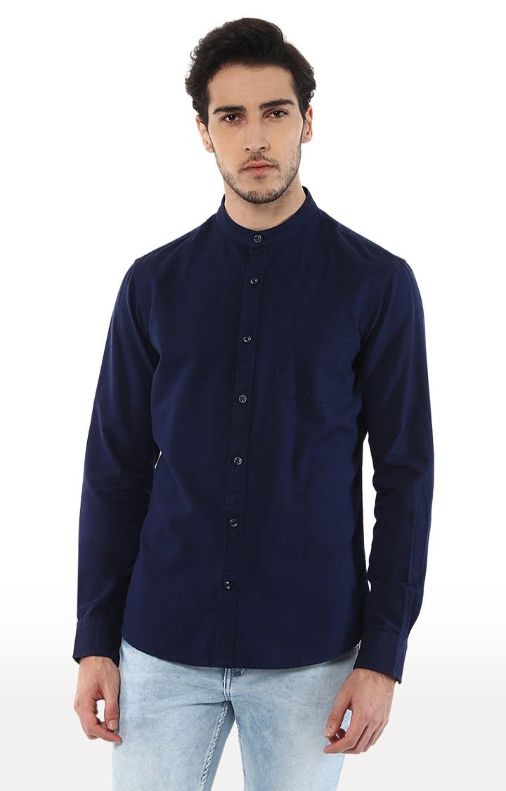 celio | Navy Solid Regular Fit Casual Shirt