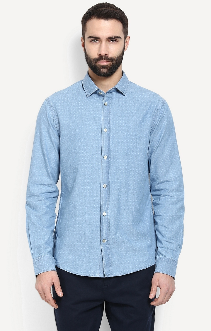 celio | Light Blue Patterned Casual Shirt