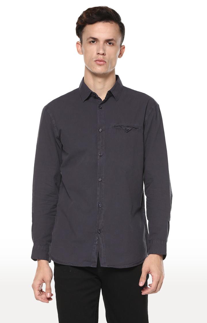 celio | Grey Solid Regular Fit Casual Shirt