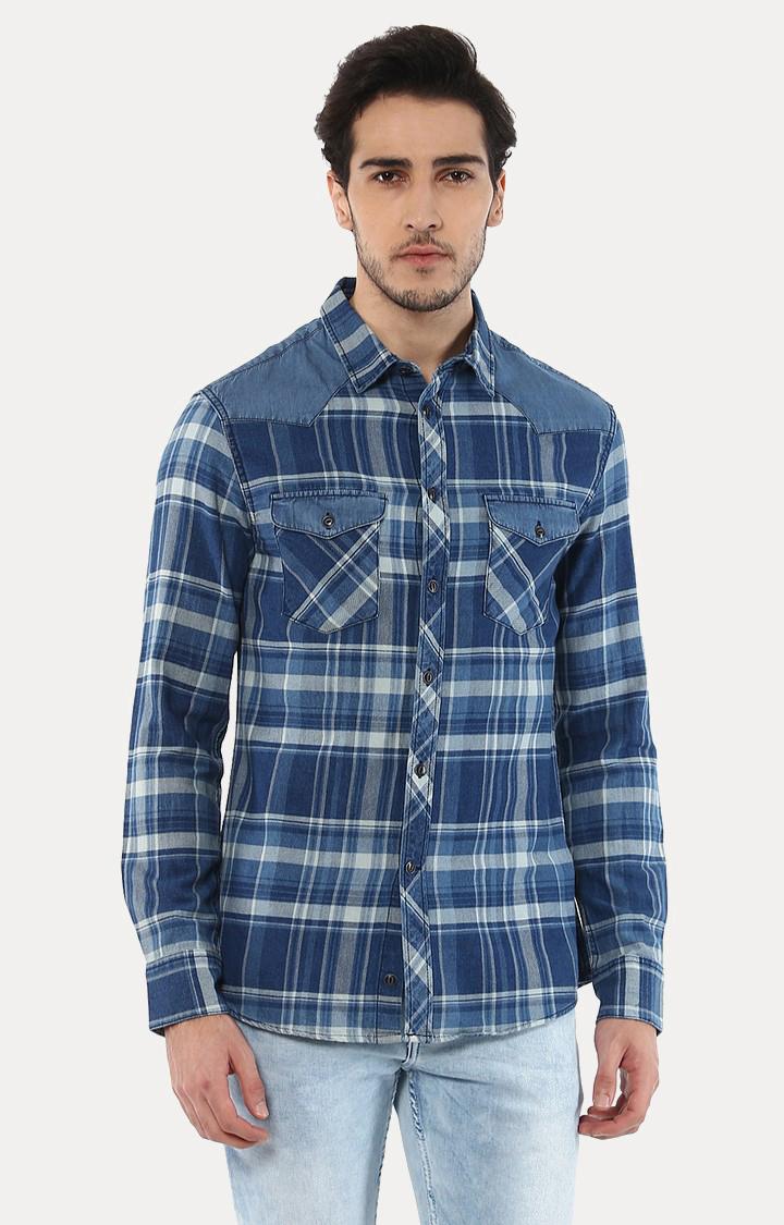 celio | Jamix2 Blue Checked Casual Shirt