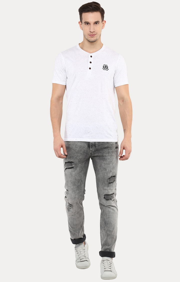 celio | Josmoke Grey Straight Jeans
