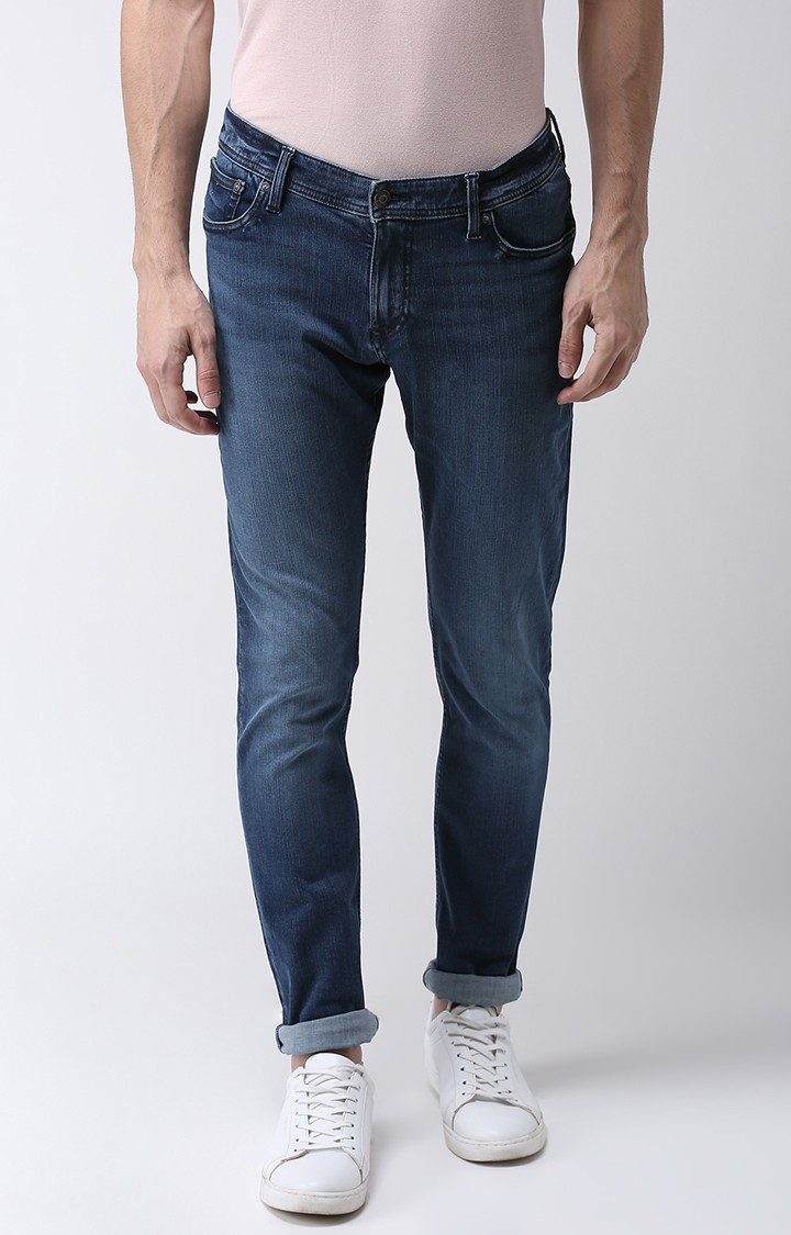 celio   Blue Solid Slim Fit Jeans