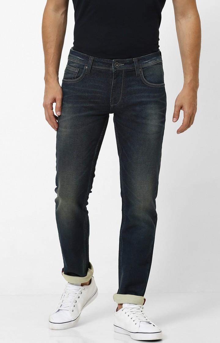 celio | Indigo Solid Slim Fit Jeans