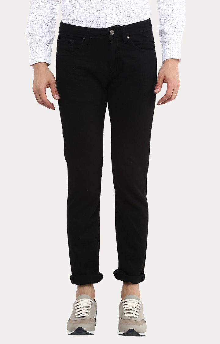 celio   Black Straight Slim Fit Jeans