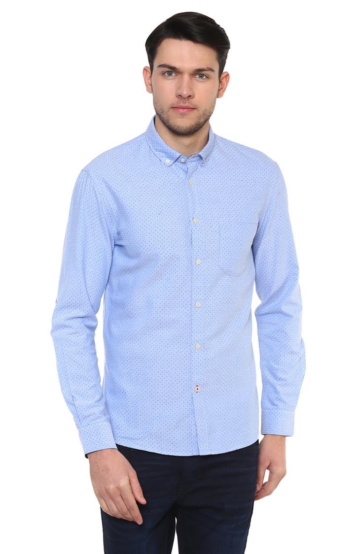 celio | Blue Printed Casual Shirt