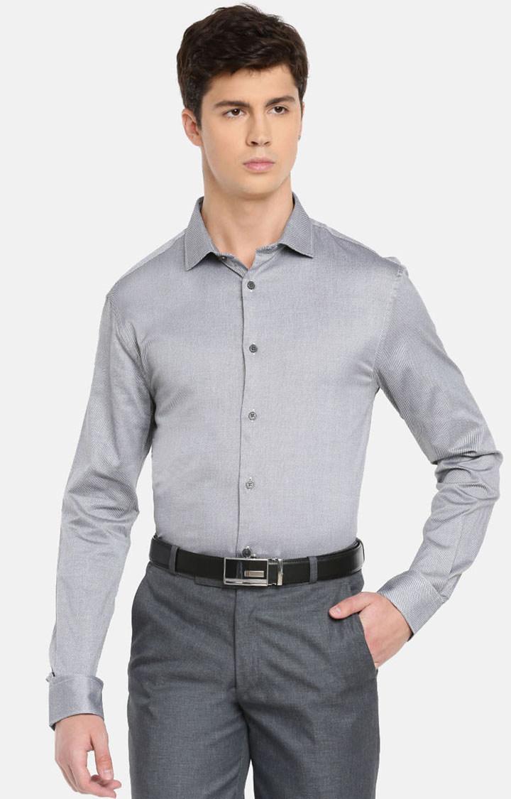 celio   Grey Solid Formal Shirt