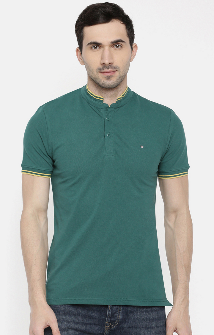 celio | Red and White Colourblock Polo Regular Fit T-Shirt