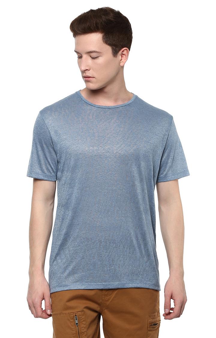 celio | Blue Melange T-Shirt