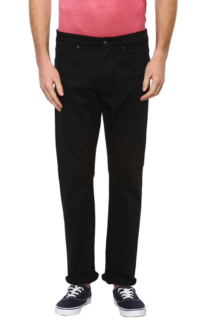 celio   Black Solid Straight Jeans
