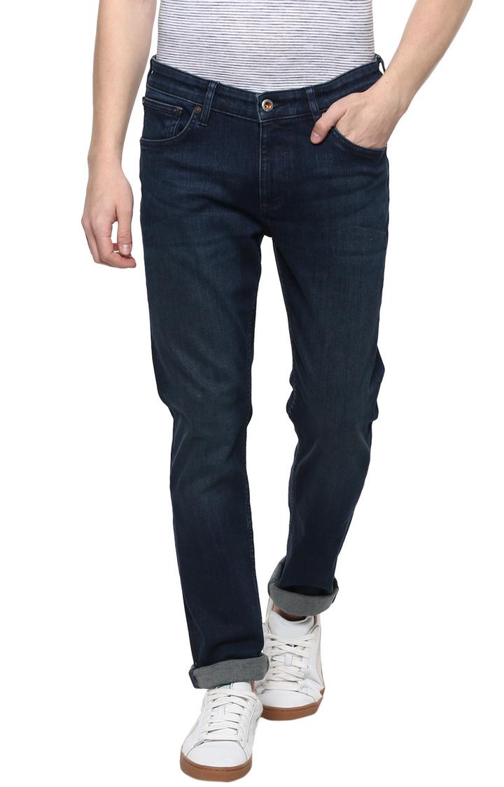 celio | Dark Blue Solid Slim Fit Jeans