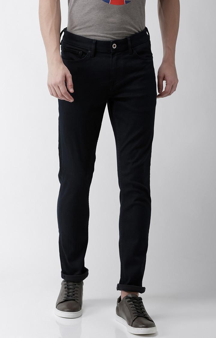celio | Navy Solid Slim Fit Jeans