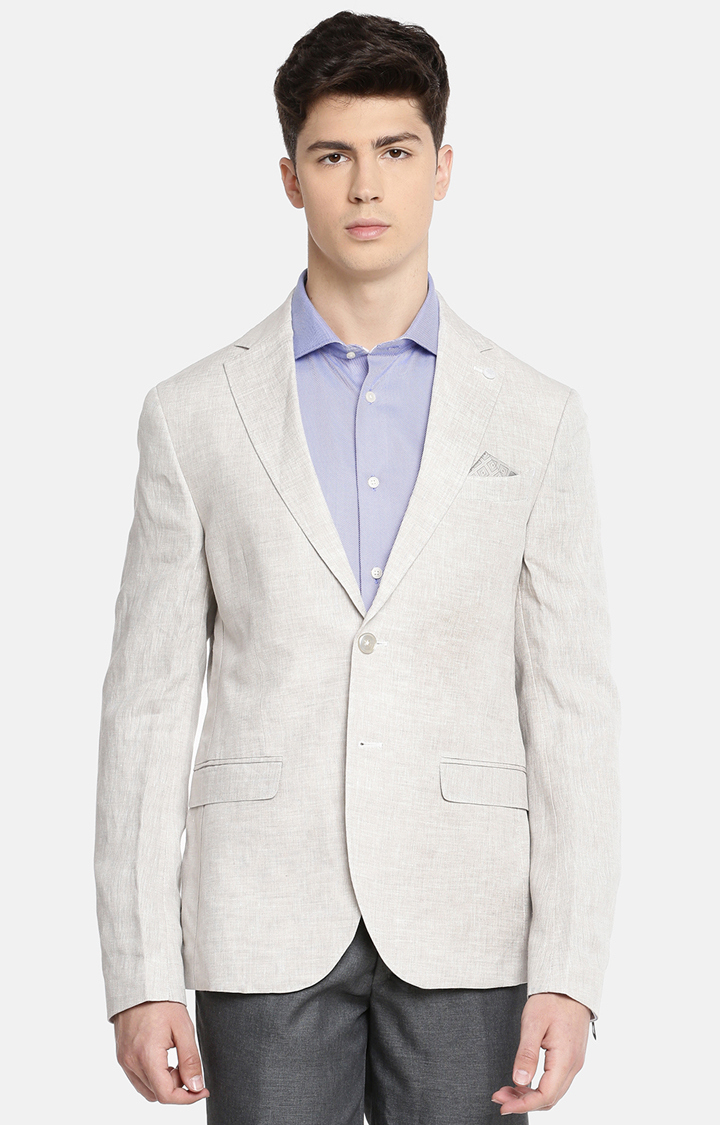 celio | Grey Melange Slim Fit Blazer