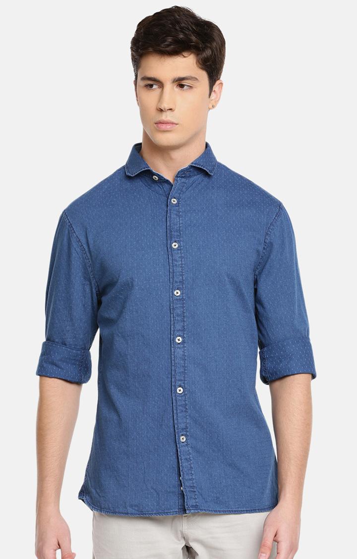 celio | Blue Solid Casual Shirt