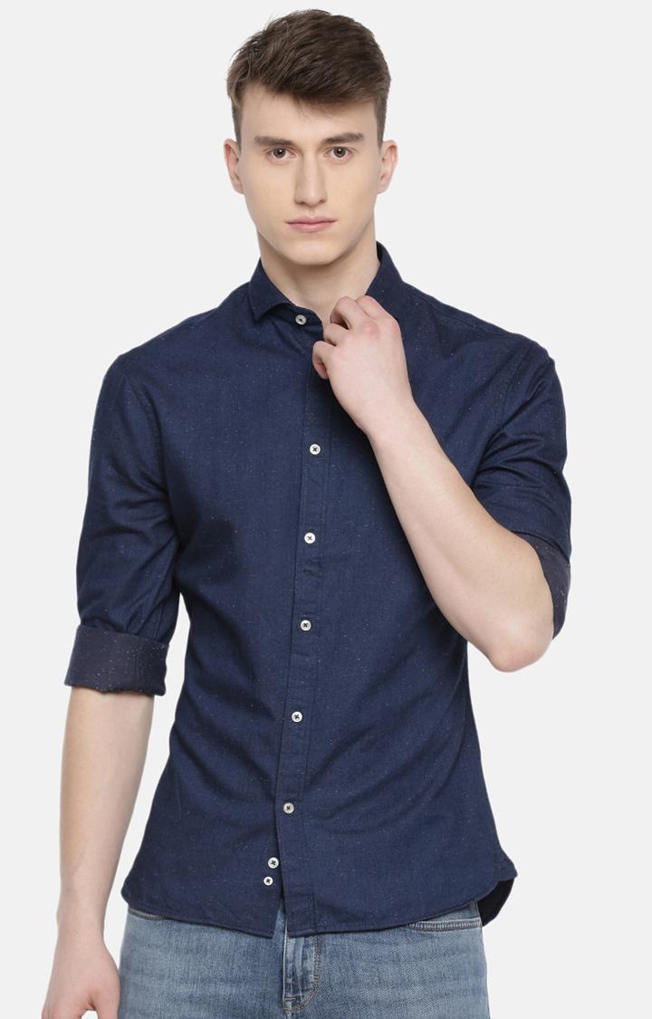 celio | Indigo Solid Casual Shirt