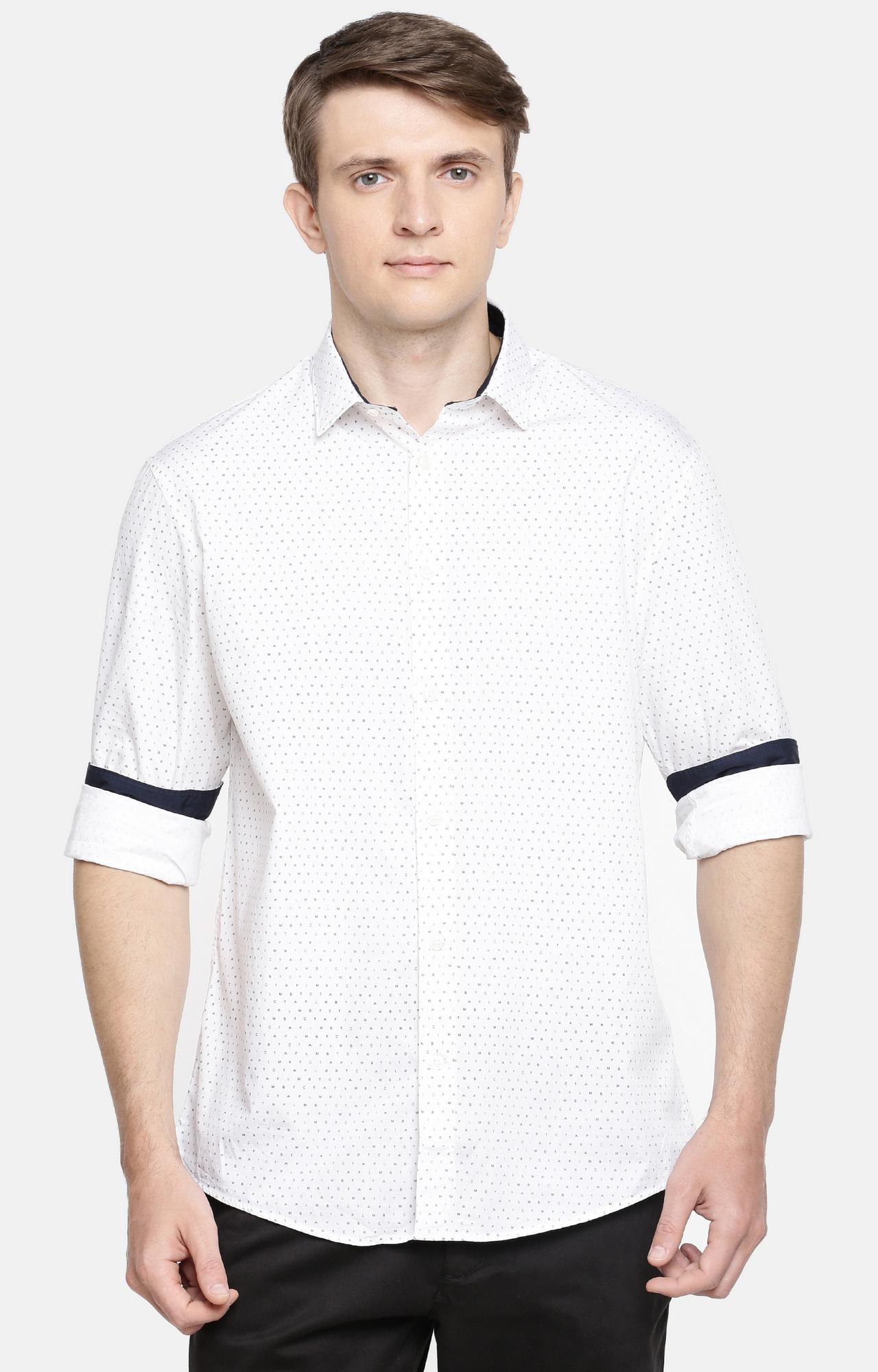 celio | White Solid Casual Shirt