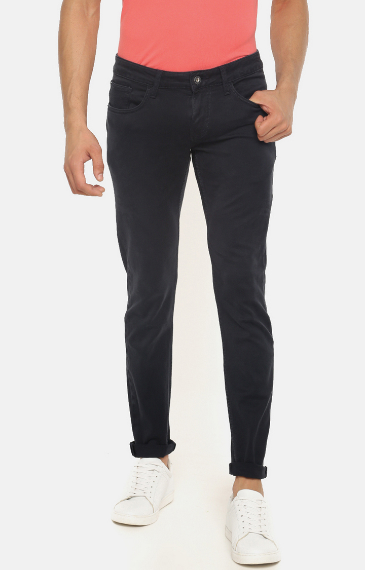 celio   Dark Blue Solid Skinny Fit Jeans