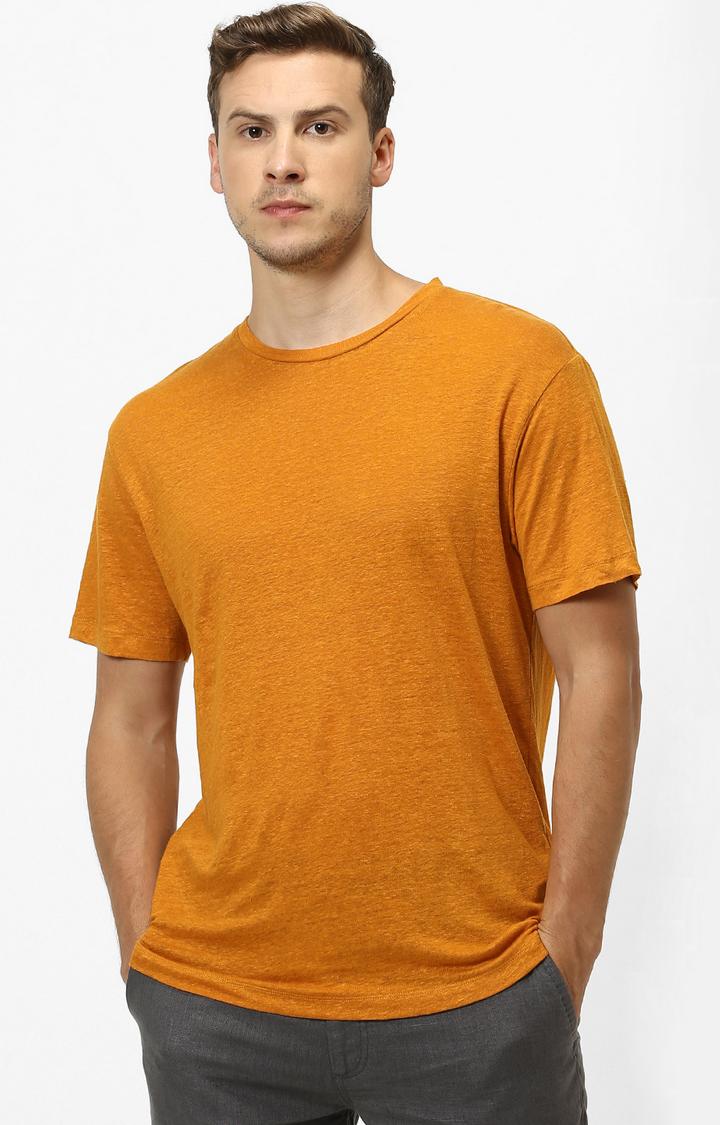 celio | Mustard Solid T-Shirt
