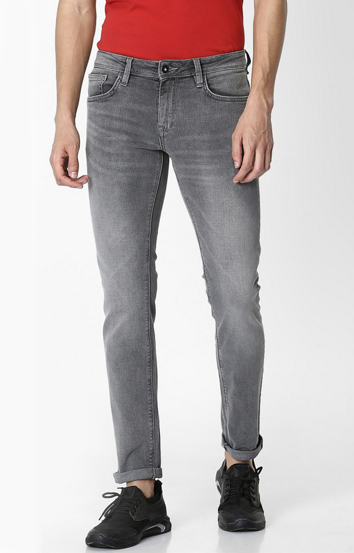 celio | Grey Solid Skinny Fit Jeans