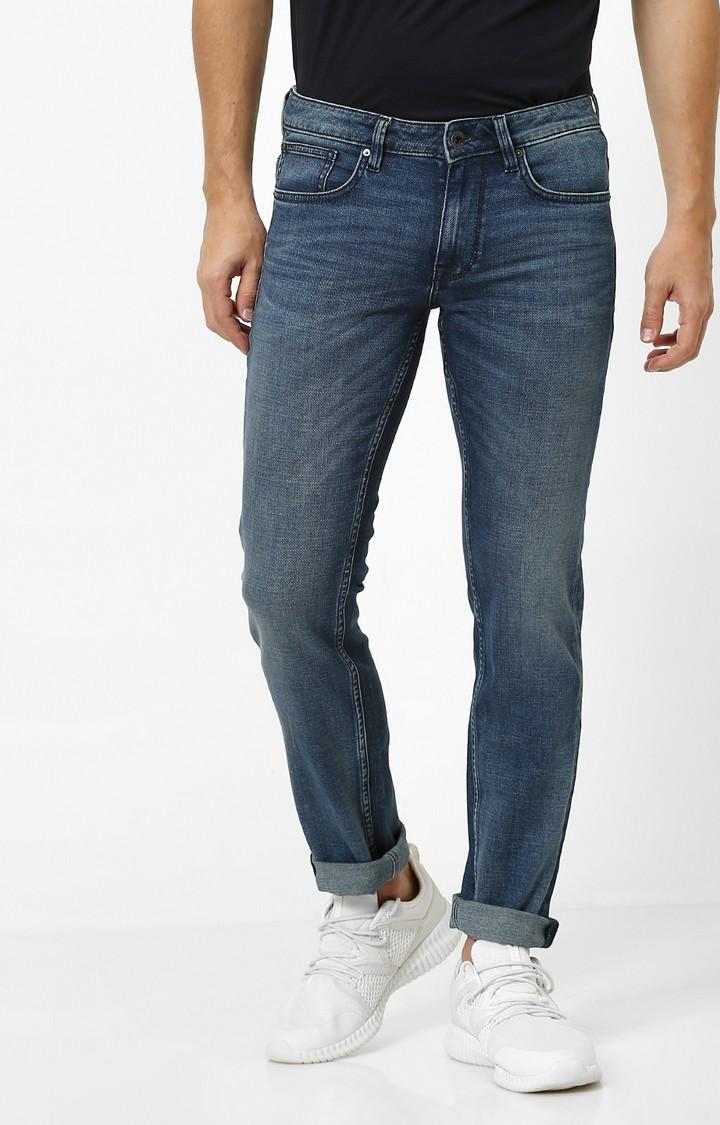 celio   Indigo Solid Slim Fit Jeans