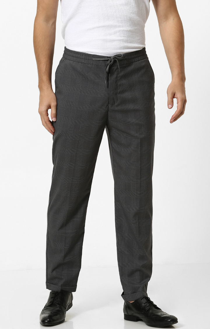 celio   Charcoal Tapered Chinos