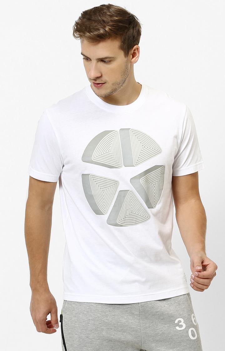 celio   White Printed T-Shirt