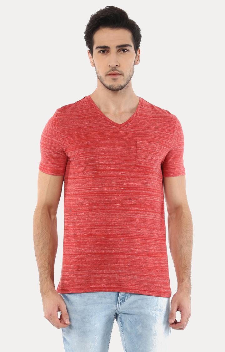 celio   Vebasic Red Melange T-Shirt