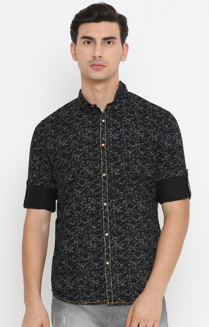 Showoff   Black Printed Casual Shirt