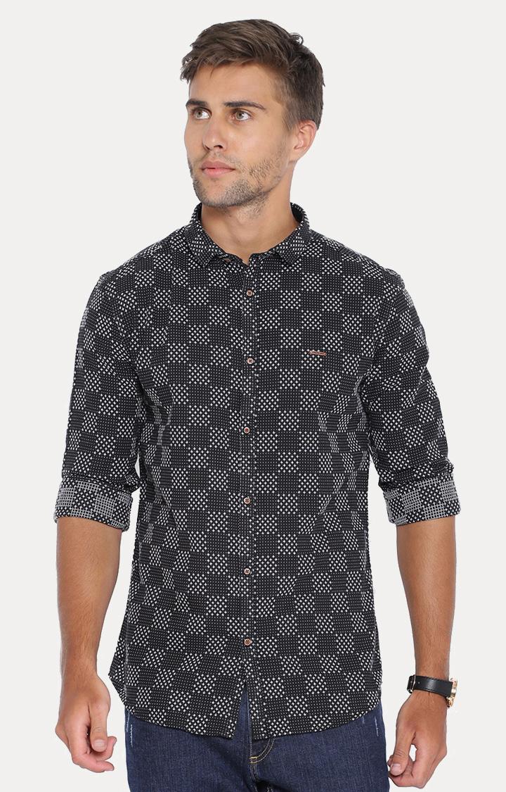Showoff   Black Checked Casual Shirt