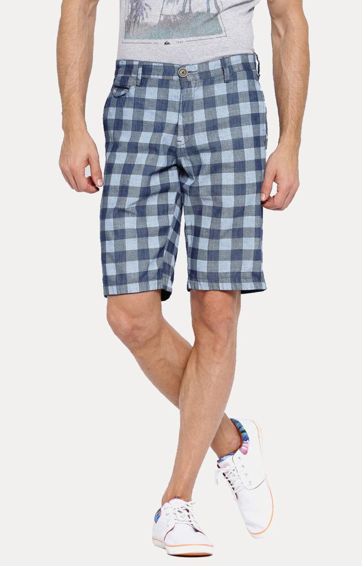 Showoff | Blue Checked Shorts