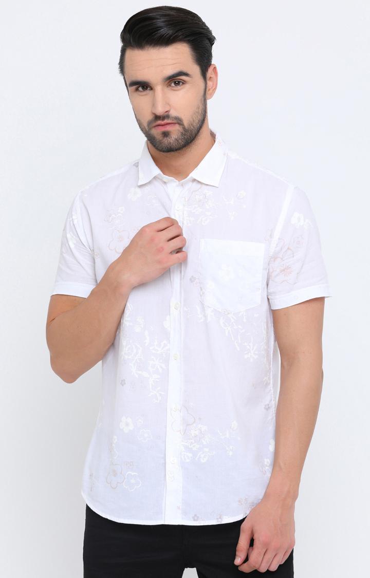 Showoff   White Printed Casual Shirt