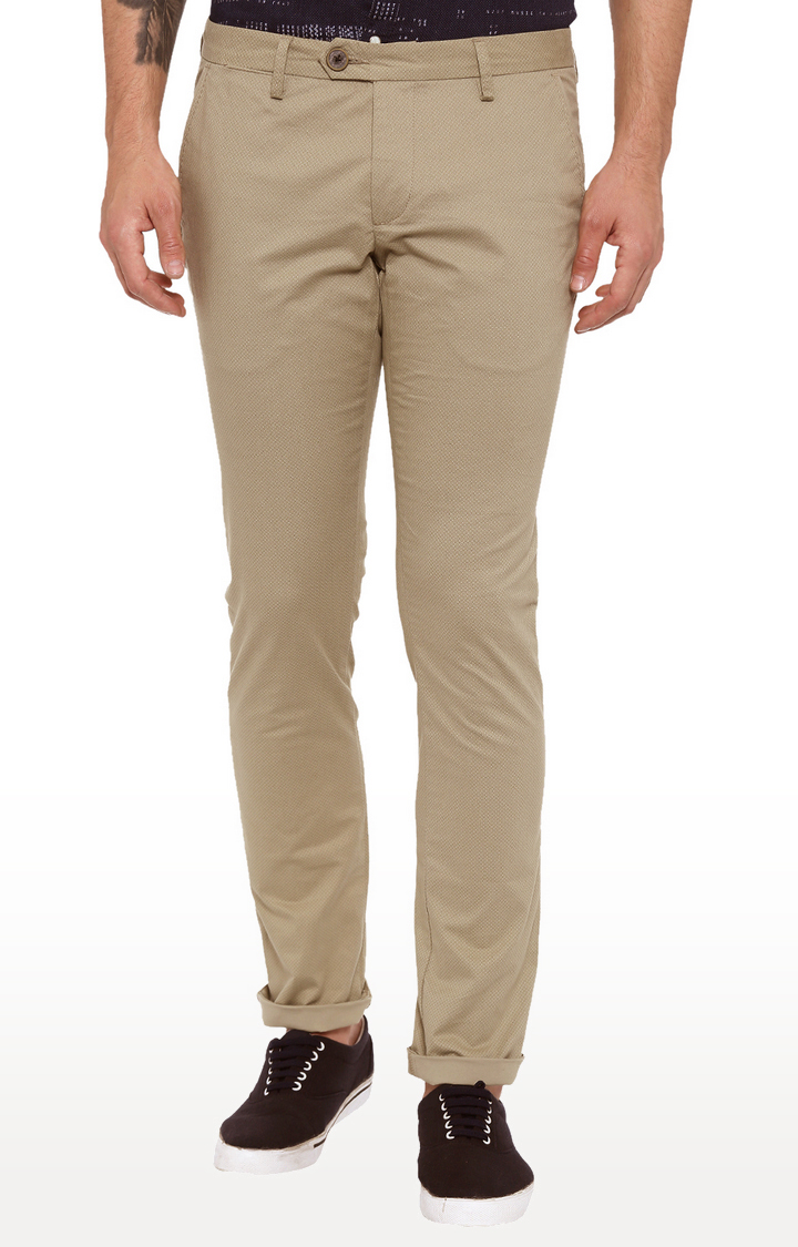 Showoff | Beige Straight Trousers