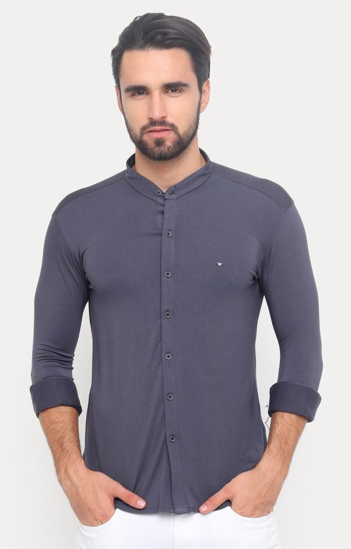 Showoff   Grey Solid Casual Shirt