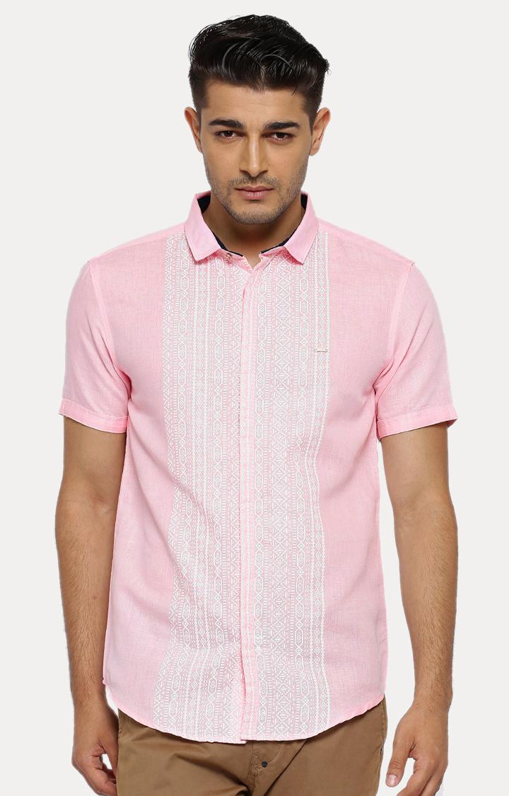 Showoff | Pink Printed Casual Shirt