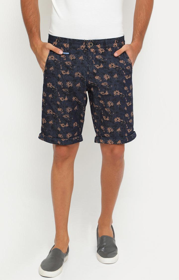 Showoff   Brown and Navy Printed Shorts
