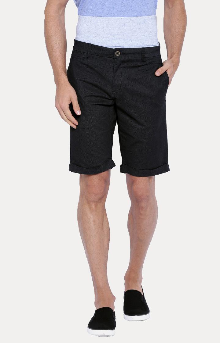 Showoff   Black Solid Shorts