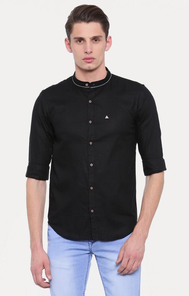 Showoff   Black Solid Casual Shirt
