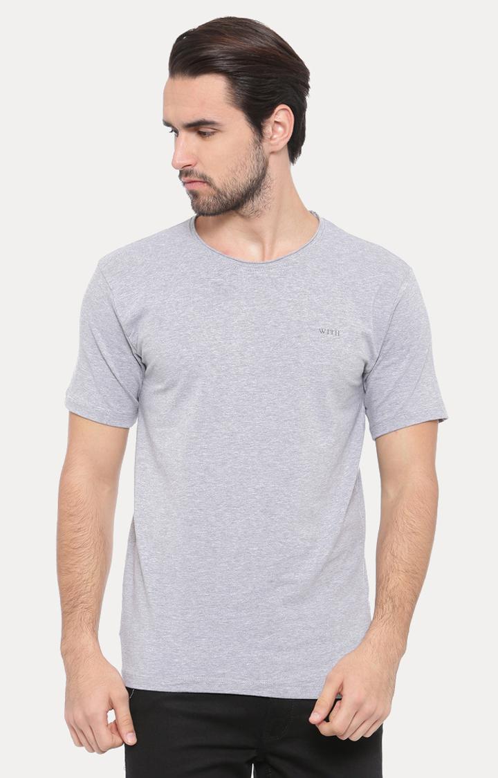 With   White Melange T-Shirt