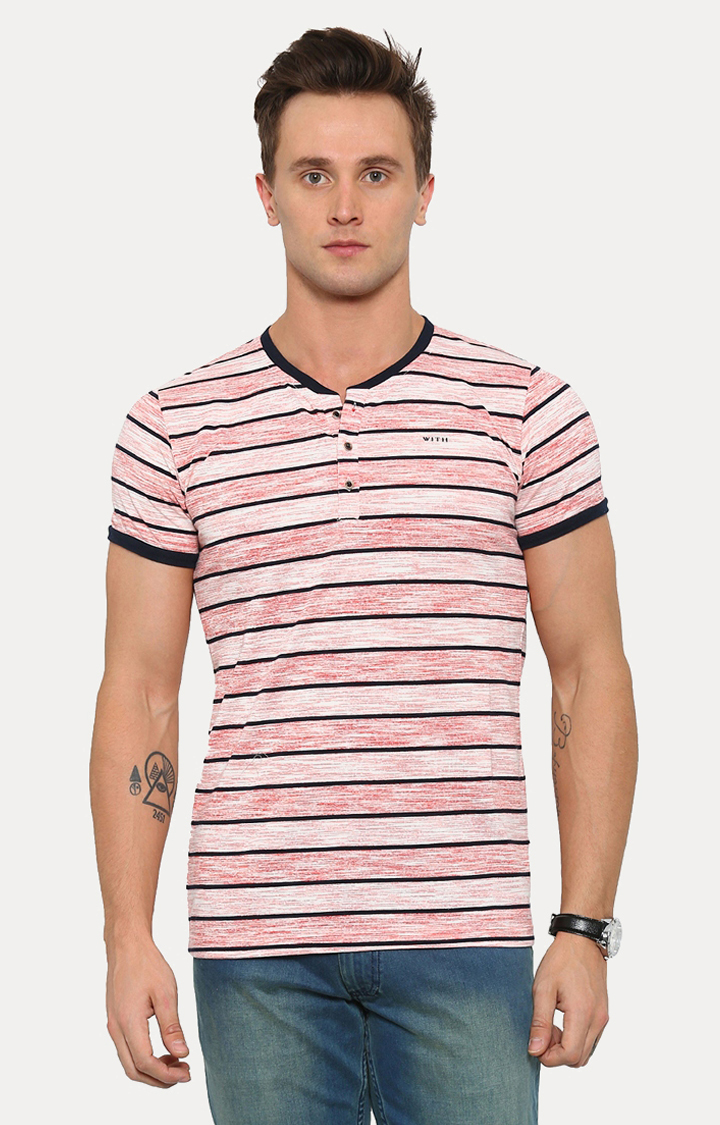With   Red Striped T-Shirt