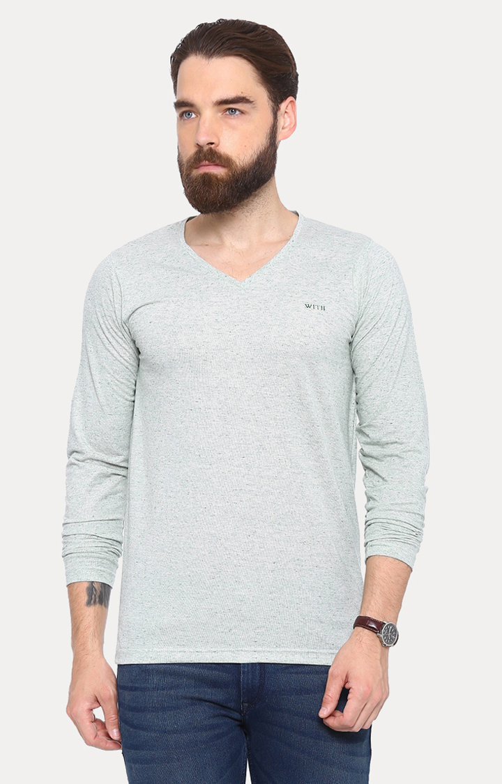 With   Grey Solid T-Shirt