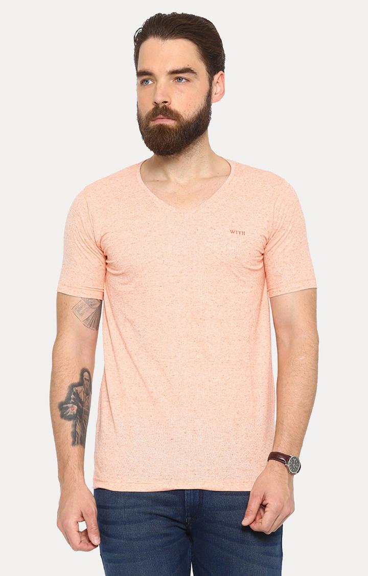 With   Orange Melange T-Shirt
