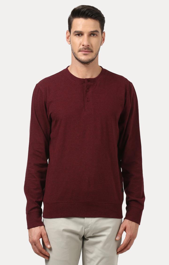 ColorPlus | Maroon Solid Sweatshirt